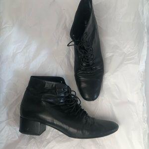 Classic Saint Laurent laceup boots